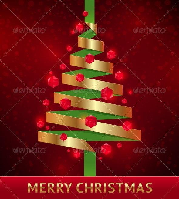 Decorative Paper Christmas Tree - Seasons/Holidays Conceptual