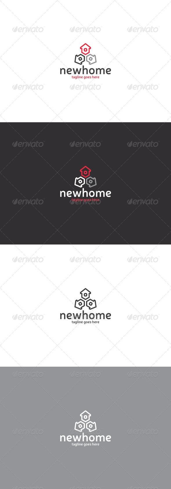 New Home Logo - Buildings Logo Templates
