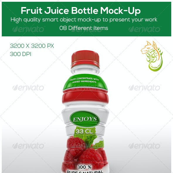 Fruit Juice Bottle Mock-Up