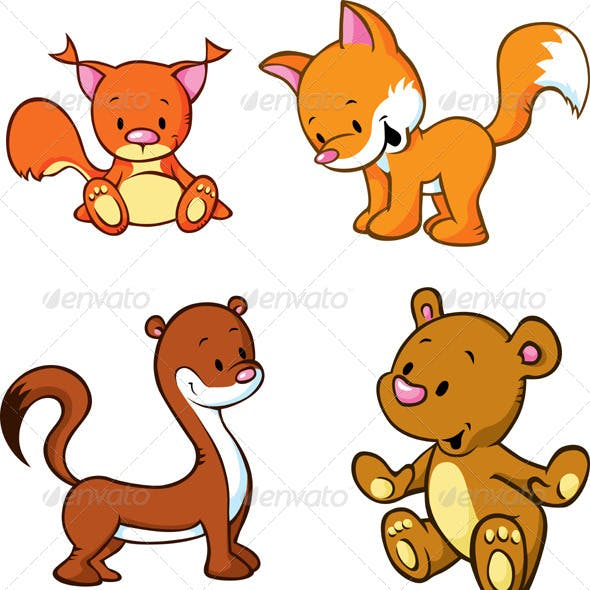 Fox, Bear, Weasel and Squirrel