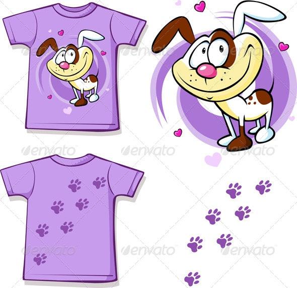 Kid Shirt with Dog Printed  - Animals Characters