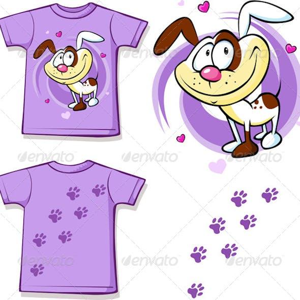 Kid Shirt with Dog Printed
