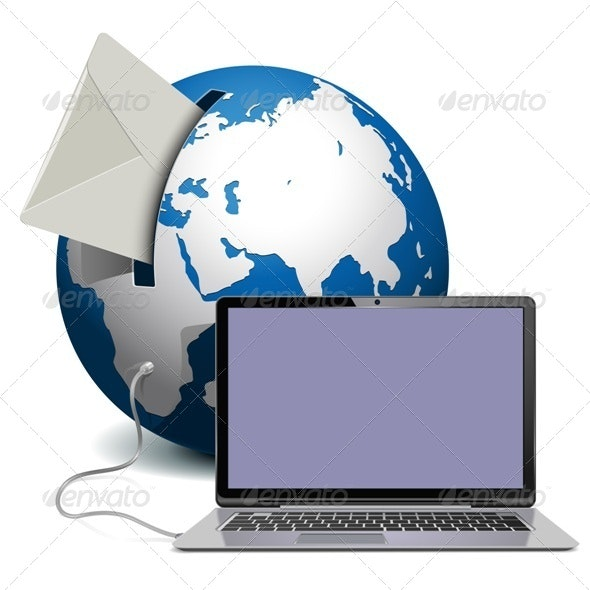 Globe with Notebook - Communications Technology