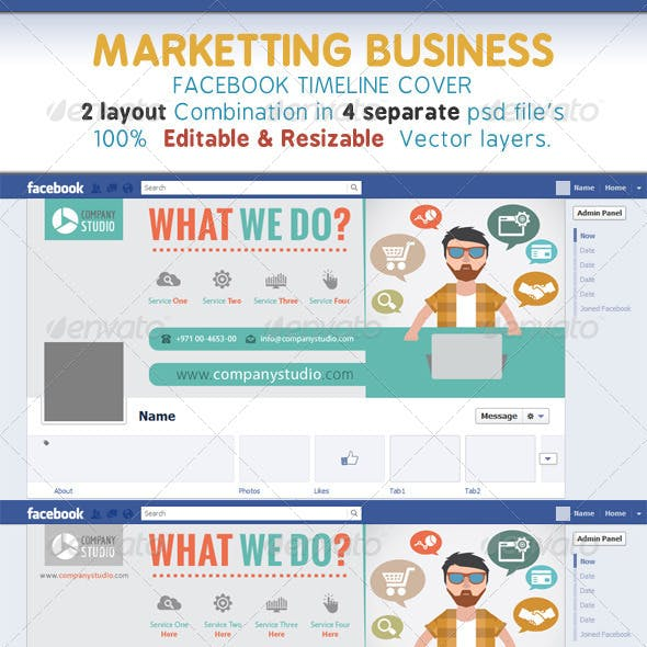 Marketting Business Timeline Cover