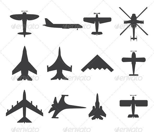 Planes Icons - Travel Conceptual