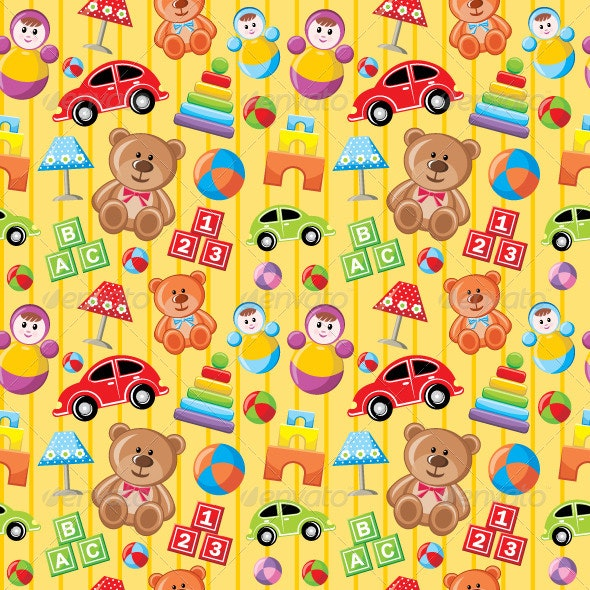 Seamless Toys Pattern - Backgrounds Decorative