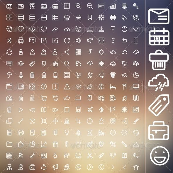 Set Of Icons For Web And UI - Web Icons