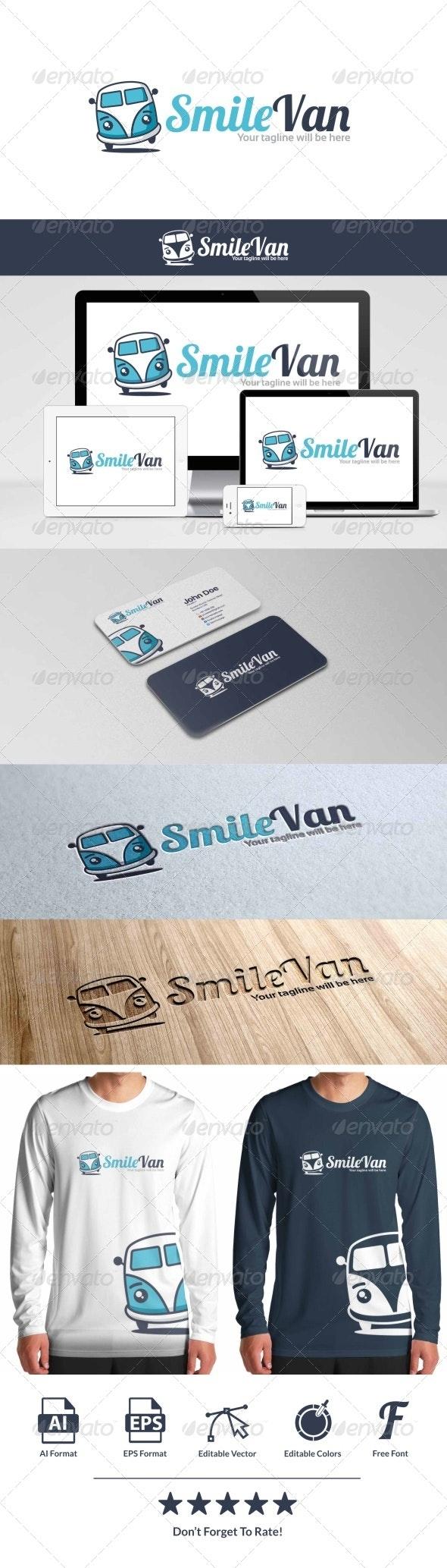 Smile Van Logo - Objects Logo Templates