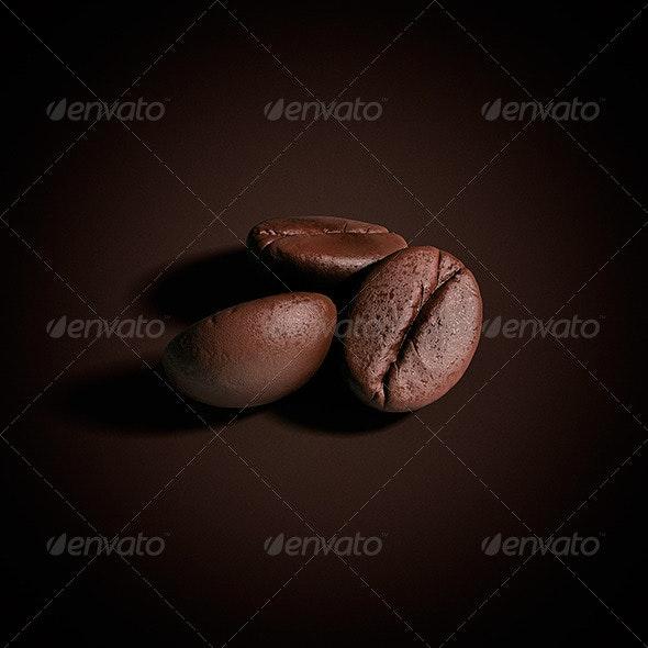 Grain Of Coffee Pack - Objects 3D Renders