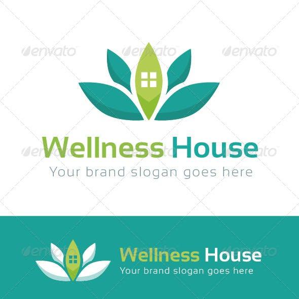 Wellness House Logo Template