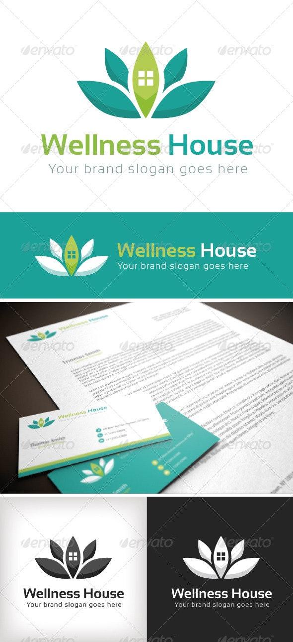Wellness House Logo Template - Buildings Logo Templates