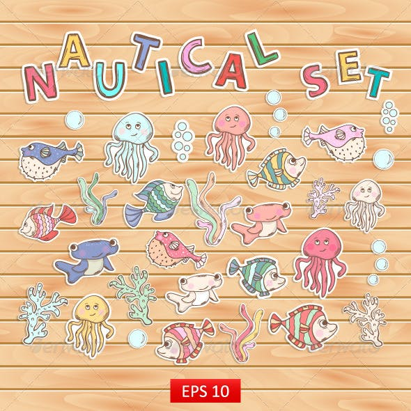 Nautical Scrapbook Sticker Set