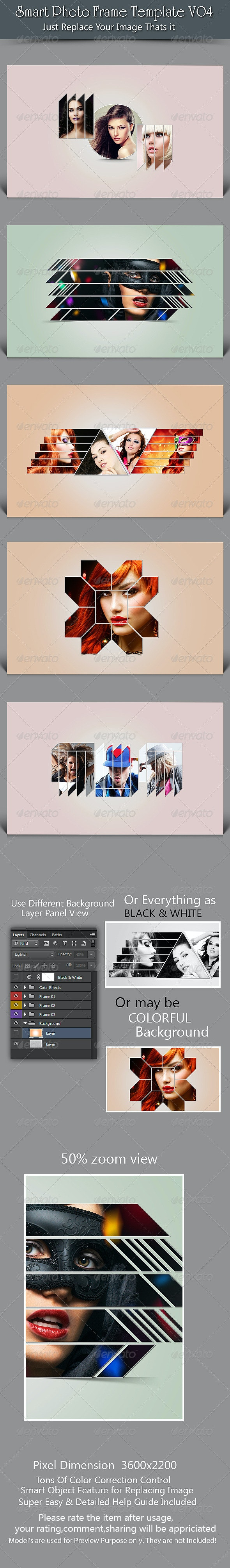Smart Photo Frame Template V04 - Photo Templates Graphics