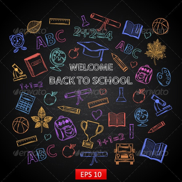 Back to School Blackboard - Backgrounds Decorative