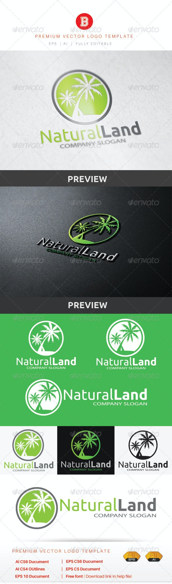 Natural Land - Nature Logo Templates