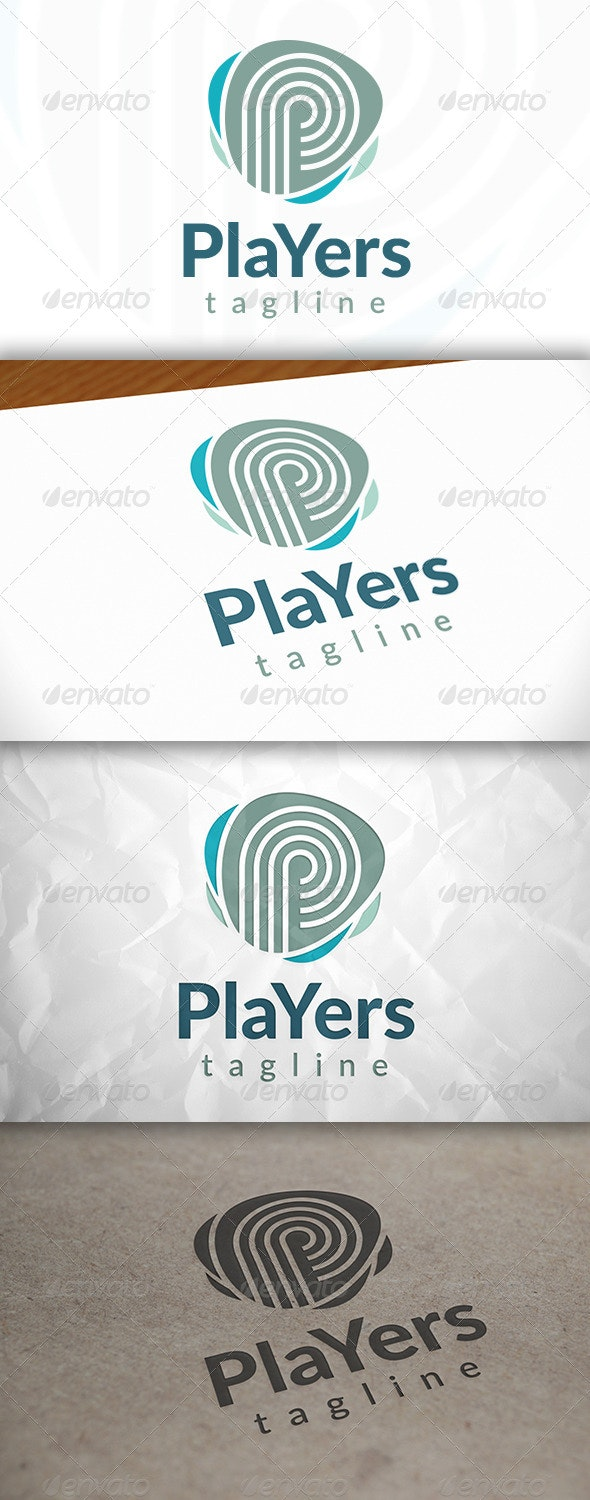 Players Logo - Letters Logo Templates