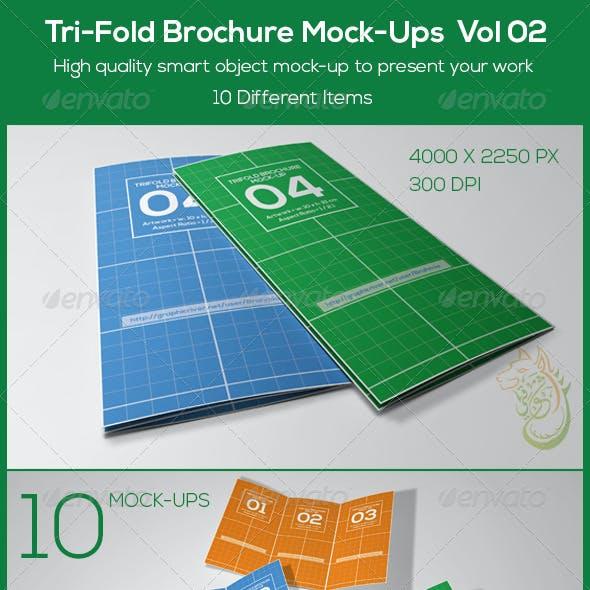 Tri-Fold Brochure Mock-Ups  Vol 02