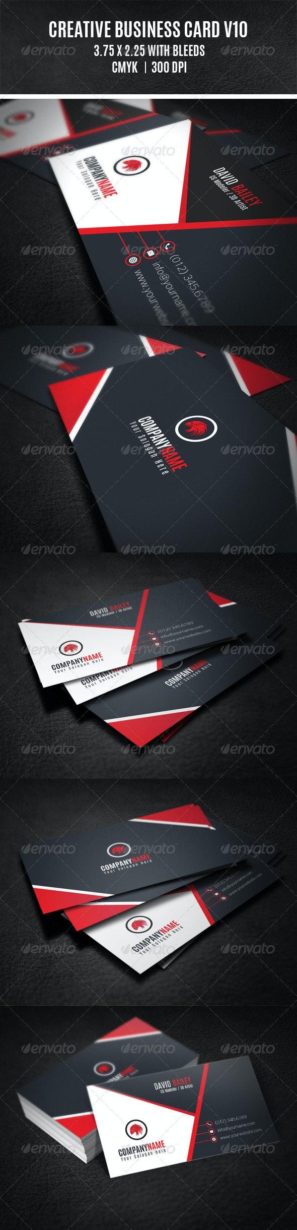 Creative Business Card V10 - Creative Business Cards