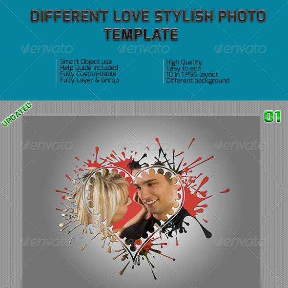 Different Love Stylish Photo Frame Templates