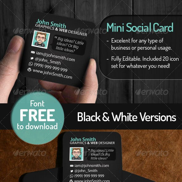 Mini Social Card