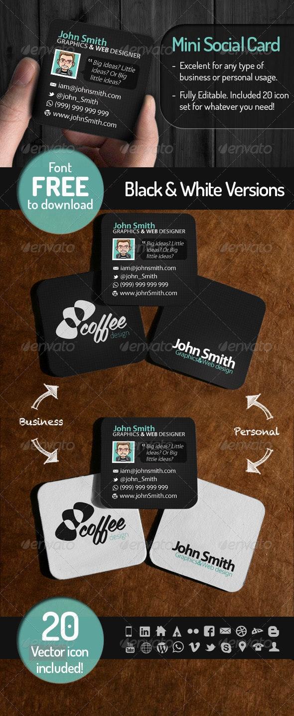 Mini Social Card - Creative Business Cards