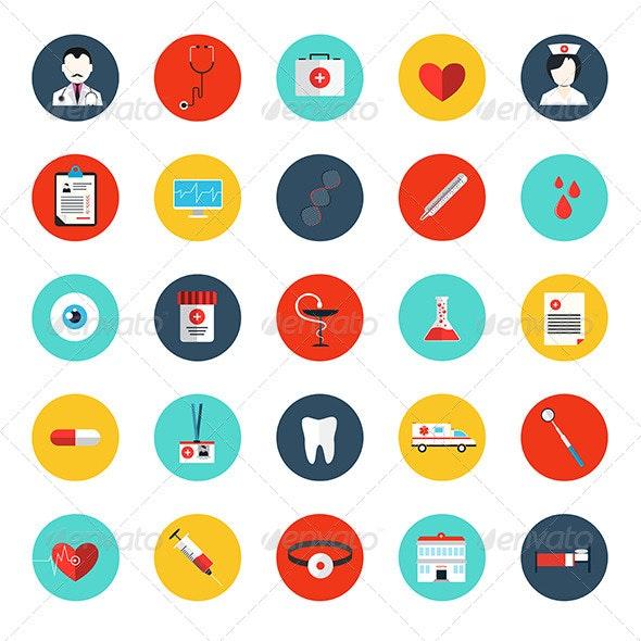Set of Flat MedicaI Icons