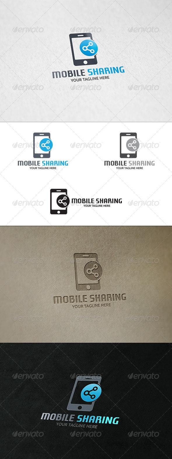Mobile Sharing - Logo Template - Objects Logo Templates