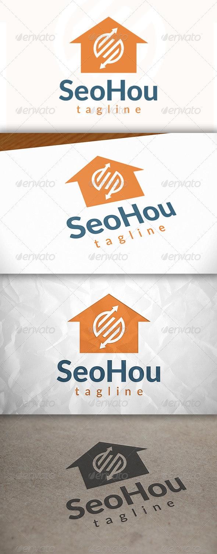 Seo House Logo - Buildings Logo Templates