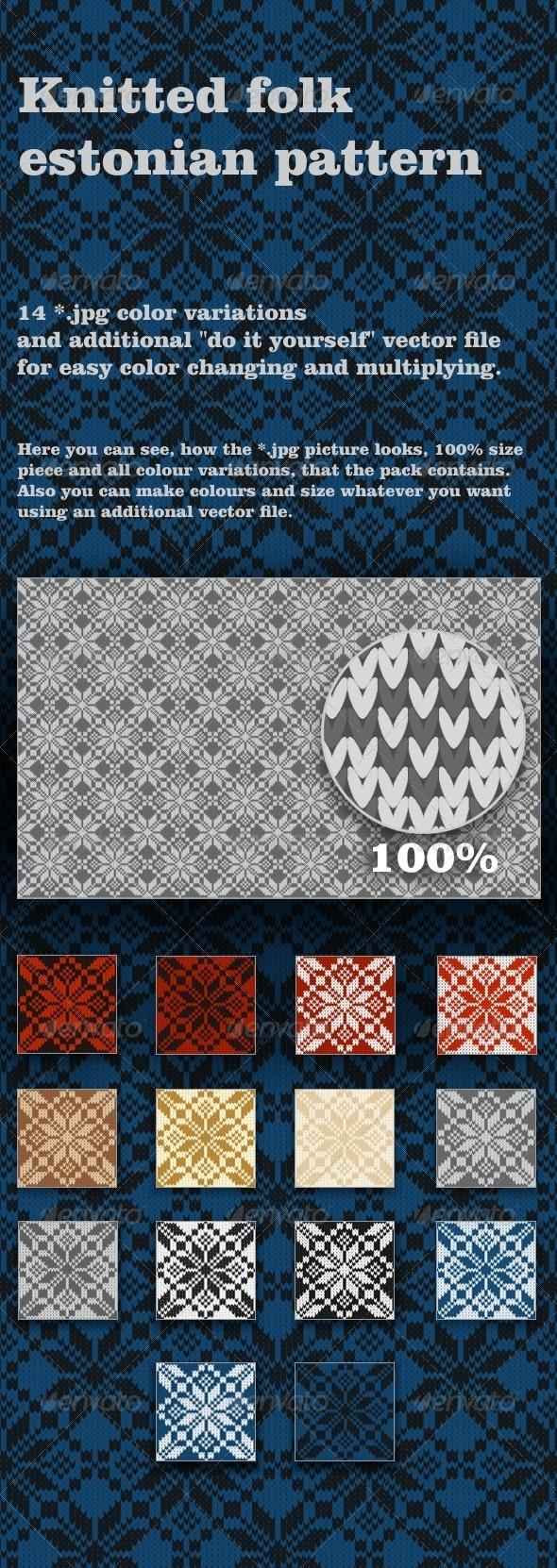 Knitted Folk Pattern - Patterns Backgrounds