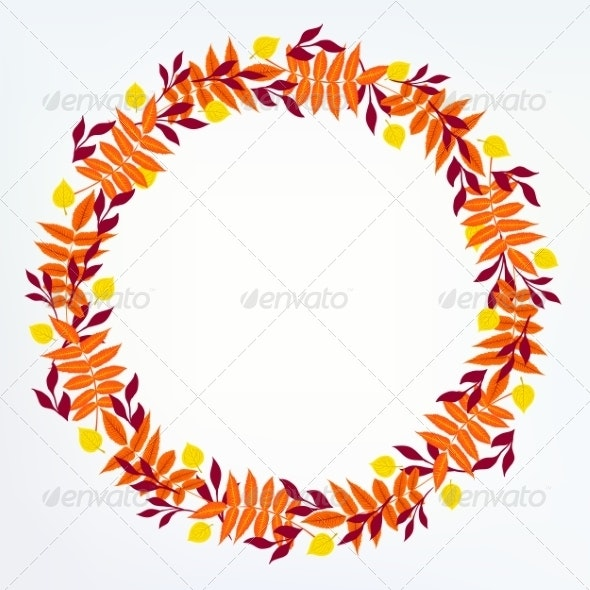 Vector Background with Autumn Decor - Backgrounds Decorative