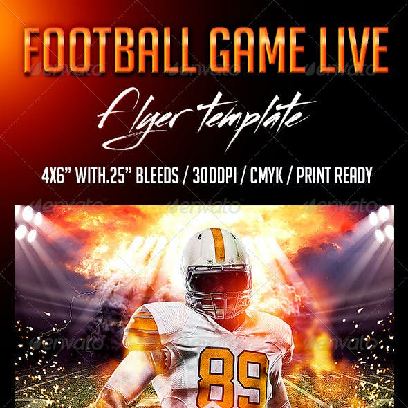 Football Game Live Flyer Template