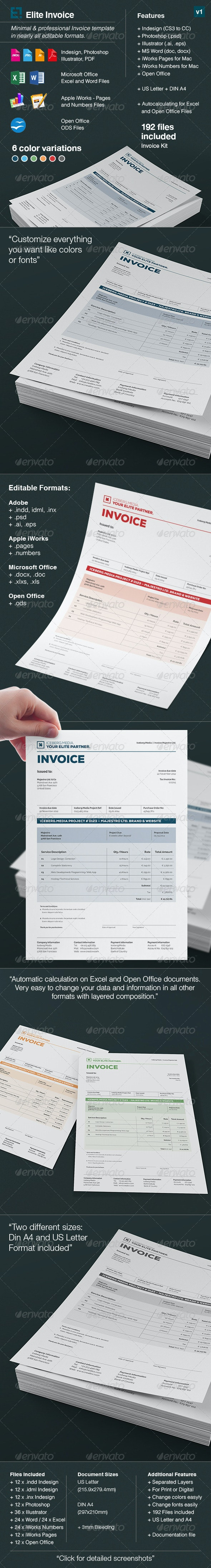 Elite Invoices - Proposals & Invoices Stationery