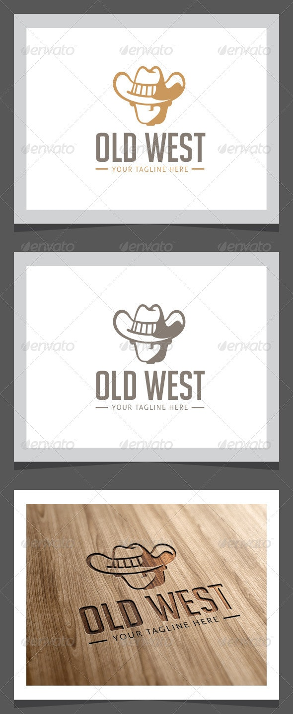 Old West Logo Template - Vector Abstract