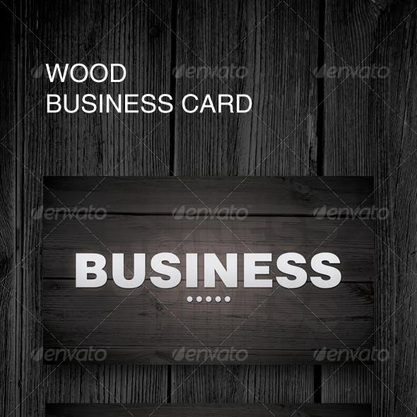 Dark Wood Business Card
