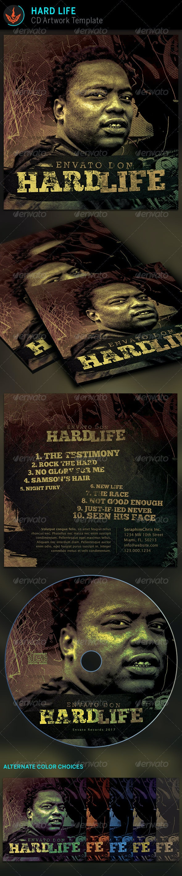 Hard Life CD Artwork template