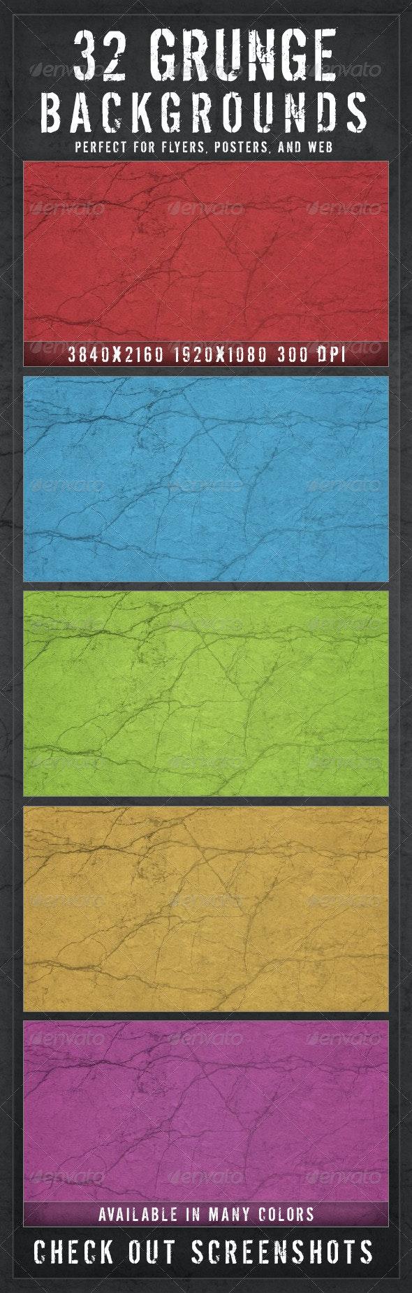 32 Modern Grunge Backgrounds V2.0 - Backgrounds Graphics