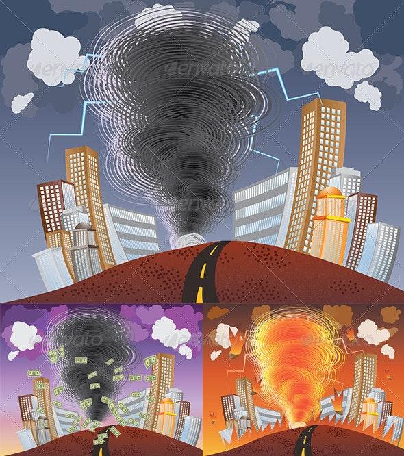 Powerful Tornado - Nature Conceptual