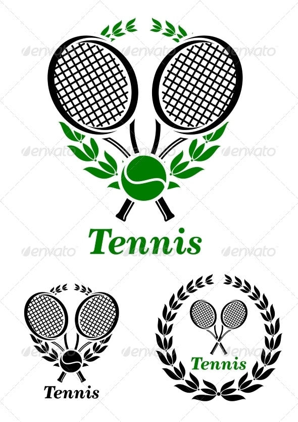 Tennis sporting emblem or logo - Sports/Activity Conceptual
