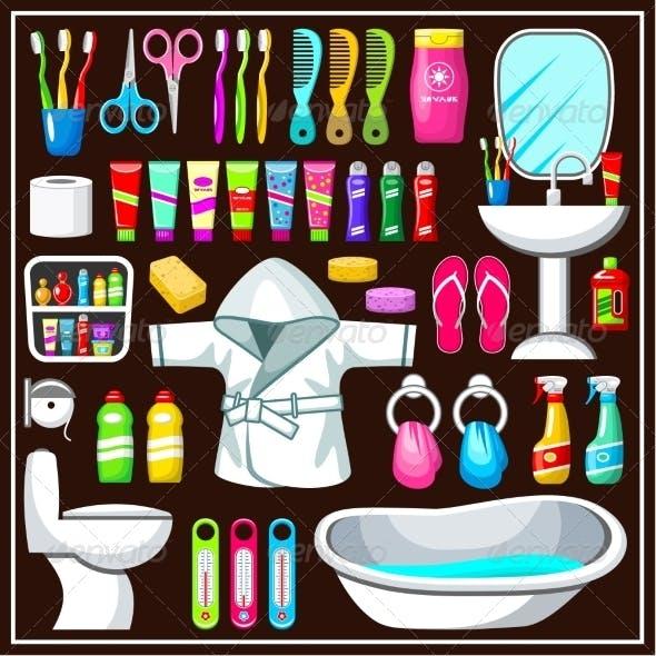 Bathroom Equipment Set.