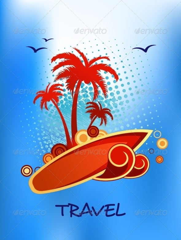 Tropical Island Travel Poster - Travel Conceptual