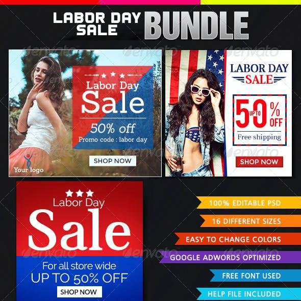 Labor Day Banner Bundle - 3 Sets