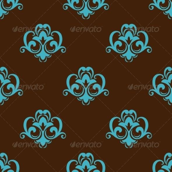 Retro Azure Seamless Pattern - Patterns Decorative
