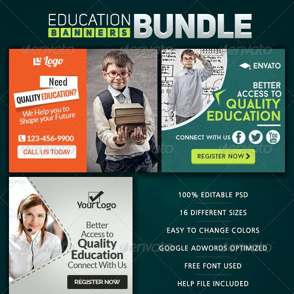 Education Banner Bundle - 3 Sets