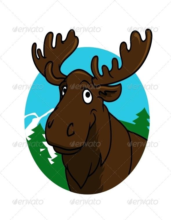 Cartoon Moose or Elk - Animals Characters