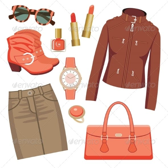 Fashion Set with Skirt and a Jacket.