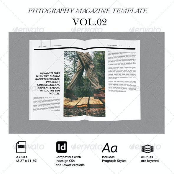 Photography Magazine Indesign Template/ Portfolio/Catalog