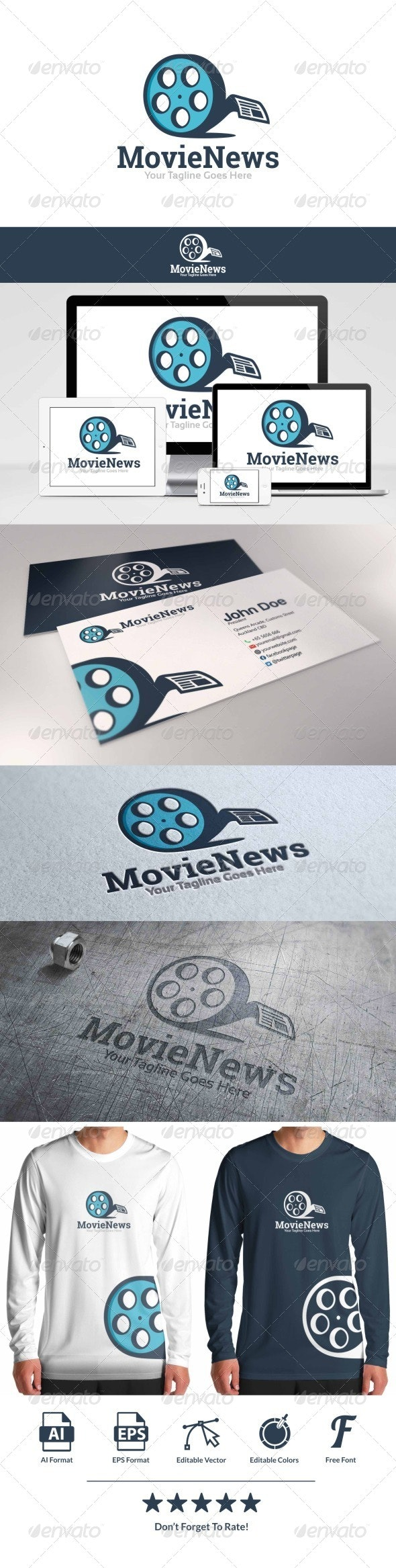 Movie News Logo - Objects Logo Templates