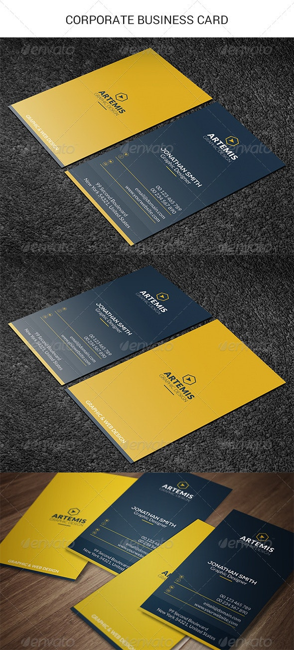 Vertical Business Card - Corporate Business Cards