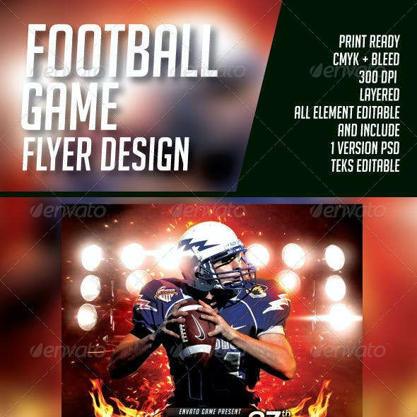 BIG GAME FOOTBALL FLYER
