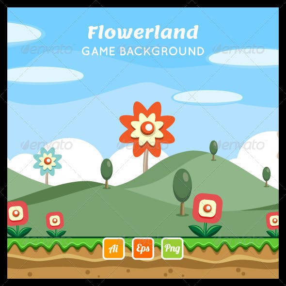 Flowerland Game Background